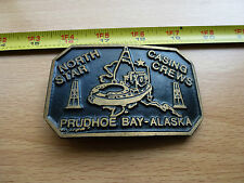 NORTH STAR BP EXXON PRUDHOE BAY ALASKA TRANS-ALASKA PIPELINE BELT BUCKLE OIL