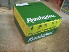 REMINGTON SHOTGUN SHELL BOX EXPRESS LONG RANGE 12 GAUGE 6 shot original EMPTY