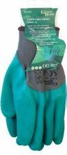 Pair of Crinkle LATEX Green GARDEN GLOVES - LARGE
