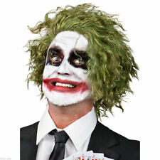 The Joker Green Wig Adult Dark Knight Batman Costume Fancy Dress Party