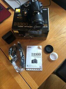 Nikon D3300 DSLR Camera with AF-P DX 18-55 VR Lens + SD Card Excellent condition