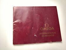 ULTRA RARE VINTAGE OMEGA SPEEDMASTER 861 BLANK GUARANTEE 1986 GENUINE 100%