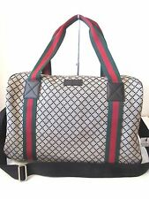 AUTHENTIC Gucci 374769  Fabric Diamante Pattern Large Travel Duffel bag