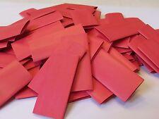 30 x 12.7 red heatshrink 50mm long polyolefin heat shrink tube pack of 30