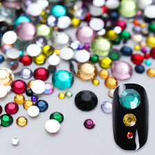 Born Pretty 2000Pcs Nail Rhinestones Colorful Crystal Mixed Size Flat-back Decor