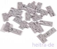 LEGO - 10 x Gelenkplatte Scharnier hellgrau 1x2 auf 2x1 / 44567 44302 NEUWARE