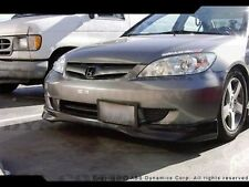 NEW 2004 05 Honda Civic 2/4DR Type R Style Front Lip (BLACK PLASTIC) UNPAINTED