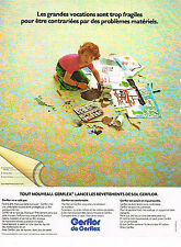 PUBLICITE ADVERTISING 045  1974  GERFLOR DE GERFLEX  revetement de sol