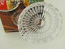 Nachtmann Bleikristall 24% Lead Crystal Wine Glass & Decanter Coasters Set-6 NIB
