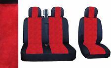 2+1 Qualitätsgewebe Sitzbezüge Schonbezüge LUX Schwarz / Rot für CITROEN RENAULT