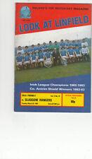 Rangers Football Pre-Season Fixture Programmes (1980s)
