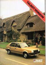 Talbot Cars November-December 1982 Brochure Samba Horizon Alpine Solara Rancho
