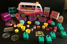 Shopkins Van Bus Accessories Toys Figures Displays Lot