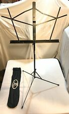 Music Stand Folding Black With Case