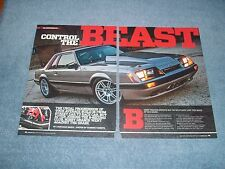 "1986 Mustang GT Notch Drag Car Article ""Control the Beast"" Fox Body"