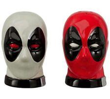 Deadpool Salt & Pepper Shakers Red & Grey