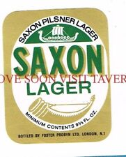 England Foster Probyn Saxon Lager Beer Label Tavern Trove