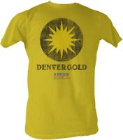 Denver Gold USFL Logo Men's Lightweight Tee Shirt Ginger Sizes S-2XL