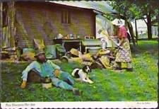 (vjd) Postcard: Ozark Living, Paw Sharpens Her Axe