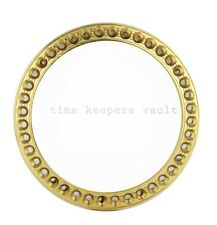 Rolex Custom Steel Yellow Plated Bezel Frame To Fit Rolex Lady 26mm watch