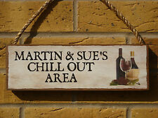 PERSONALISED DRINKS SIGN CHILL OUT AREA SIGN GARDEN SIGN PATIO SIGN WEATHERPROOF