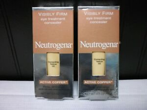Lot of 2 Neutrogena .5oz Correcting Yellow Eye Treatment Concealer Active Copper