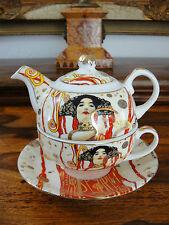Teekanne Tasse Teller Set Porzellan Klimt Jugendstil Kaffee Edel Luxus NEU