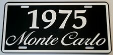 1975 75 MONTE CARLO METAL LICENSE PLATE 350 400 454 SS LOWRIDER CHEVY