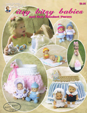 """Crochet toy pattern """"Itsy Bitsy Babies and their Bassinet purses Annie Potter"""