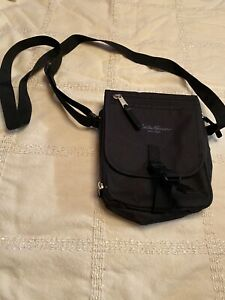 Eddie Bauer Crossbody Shoulder Travel Bag Purse Canvas Small Black Nylon