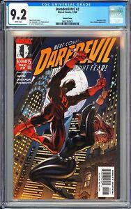 Daredevil v2 #2 CGC 9.2 WP 1998 3802360001 Daredevil #382 Black Widow App!