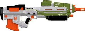 Nerf Halo MA40 Motorized Dart Blaster Removable 10 Dart Clip Game Halo Code NEW