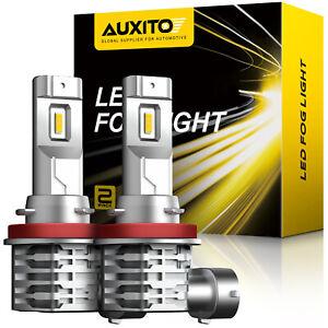 2pc AUXITO H8 H11 H16 LED Fog Light DRL Bulb Super Golden Yellow High Power EOD
