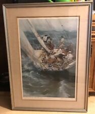 "R.S. RIDDICK 1978 ""NO PLACE FOR THE FAINT HEARTED"" SIGNED LE 157/1000 PRINT COA"
