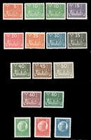 Sweden #197-212 MNH CV$1400.00 VF-XF 1924 UPU CONGRESS