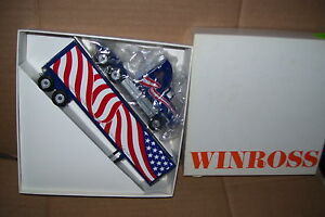 """1991 Thomas Trucking Special Ed """"Support Troops"""" Winross Diecast  Trailer Truck"""
