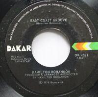 Soul Unplayed 45 Hamilton Bohannon - East Coast Groove / Bohammon'S Beat (Pt. 1)