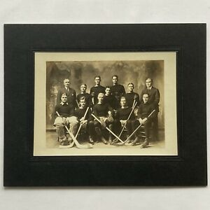 Antique 1912 Princeton Hockey Team Photo W Hobey Baker