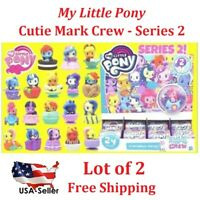 (2) My Little Pony Cutie Mark Crew Series 2 Friendship Party Mystery Pack & Card