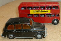 2 Lone Star Diecast Models - London Bus and Taxi