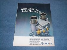 """1969 Union 76 Vintage Gasoline Ad with Webber Carburator """"What We Go Through"""""""