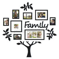 Family Tree Picture Photo Frame Set Wall Decal Collage Sticker Home Decor Gift
