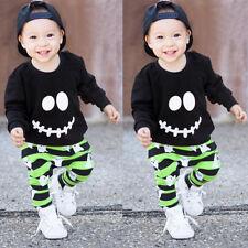 Halloween Niño Bebé Ropa Trajes Algodón Jersey Blusas Chándal + Pantalones Set
