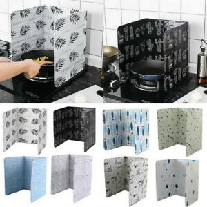 Kitchen Cooking Frying Pan Oil Splash Guard Stove Scald Proof Covers Board UK.