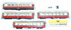 Bemo Rhb Salon Car 4er Set Rhaetian Railway Red Beige 7272 H0m Boxed Å