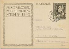 DT.REICH 1942 Sonderkarte zum Europäischen Postkongress in Wien PRIVAT-GA SIEGER