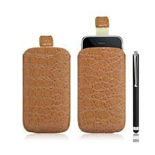 Housse coque étui pochette style croco pour Apple Iphone 3G/3GS + Stylet