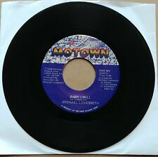 """MICHAEL LOVESMITH Baby I Will/What's The Bottom 45 7"""" SOUL Motown Records Vinyl"""