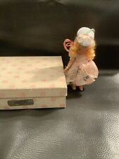 "5 1/2"" Storybook Bisque Doll ""Little Bo Peep Has Lost Her Sheep"" in Box #153"