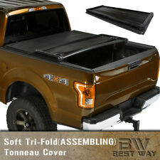 Soft Tri-Fold Tonneau Assemble Cover For 1994-2003 Chevrolet S10/GMC S15 6ft Bed